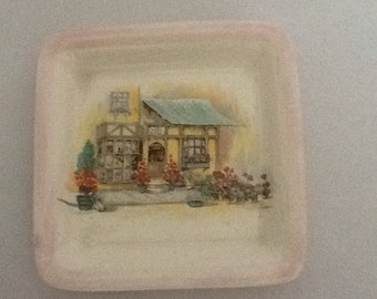 Vintage Hanley Englishware flower shop coaster