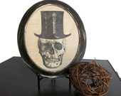 Halloween Skull Spooky Picture Home Decor Wall Art Hanging Vintage Frame