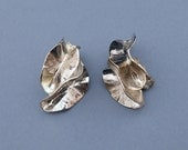 Vintage Silverplated/Silvertone Clip on Earrings by Norma Jean