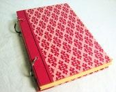 BLACK FRIDAY SALE Pink Repurposed vintage book journal sketchpad