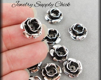 Silver Ox 3 layer rose (x2)