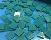 "TURQUOISE BLUEGREEN Aqua Opal 50 1/2"" Stained Glass Mosaic Tile A5"