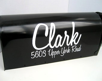 Mailbox Lettering - Custom Vinyl Mailbox Name and Address - Casual Mailbox Lettering -