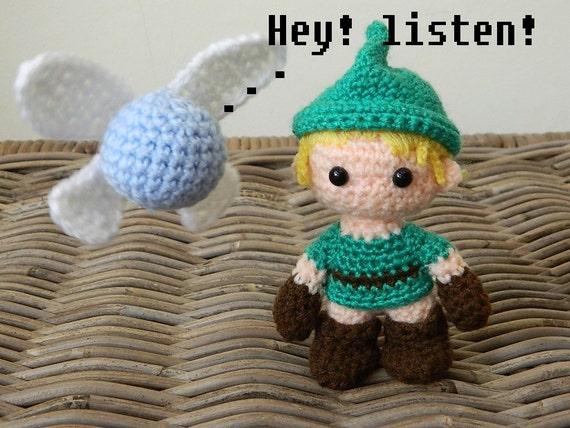Link from Zelda inspired plush toy crochet by LottiesCreations