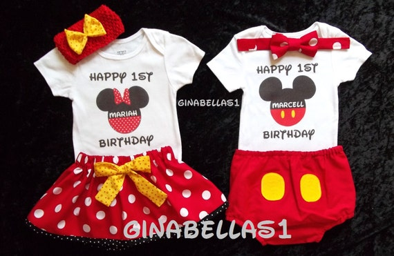 Minnie Mouse Onesie Mickey Mouse 1st Birthday Outfit Little