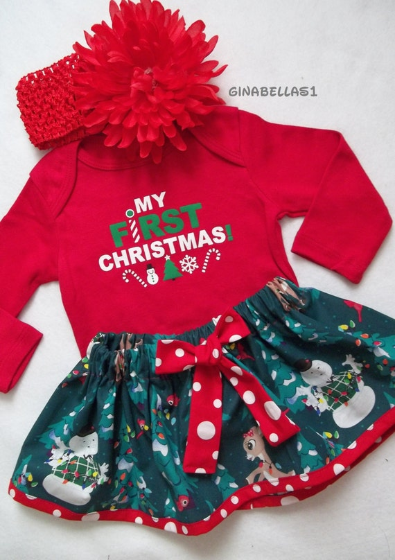 Baby Girls My First Christmas Santa Costume Party Dress 4PCS $ 17 99 Prime. out of 5 stars Bonnie Jean. Girls Christmas Dress Velvet Sparkle Dress with Jacket. from $ 33 Baby Girls Christmas Dress Cartoon Painting Print Lantern Sleeve Playwear. from $ .