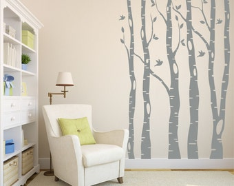 Tree Wall Decal - Birch Tree Decal - Wall Decal Nursery - Kids Tree Wall Art - Large Tree Decals