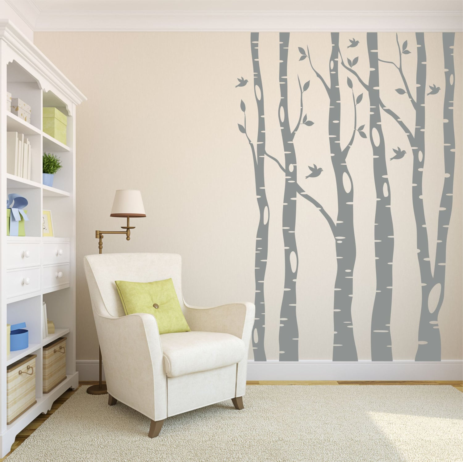 Tree wall decals birch tree decals living room decor zoom amipublicfo Gallery
