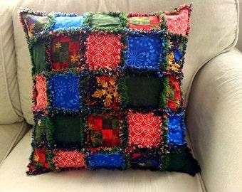 Christmas/winter rag pillow