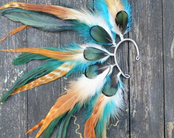 Feather Ear Cuff - Autumn Eyes