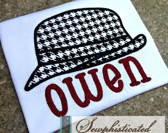 Houndstooth Hat Shirt - You Customize