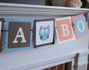 Owl It's A Boy Banner, Owl Baby Shower Banner, Owl Theme, Owl Banner, Owl Fall Baby Shower