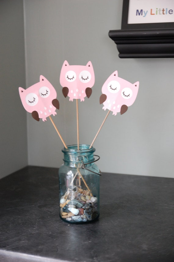 Owl Centerpieces 8 Pcs Birthday Baby Shower Its A