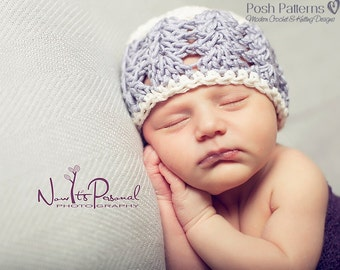 Crochet PATTERN - Crochet Hat Pattern - Crochet Pattern Baby - Crochet Patterns for Women - Includes 6 Size Newborn to Adult - PDF 117