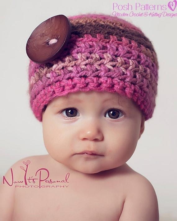 Crochet PATTERN - Easy Crochet Pattern - Crochet Hat Pattern - Crochet Patterns for Women - Includes 7 Sizes Newborn to Adult - PDF 155