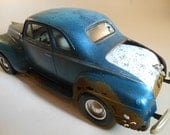 Classicwrecks Scale Model Rusted Plymouth Car in Blue