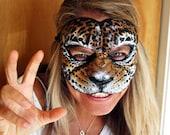 Cat Mask Masquerade Ball (Jaguar Style) Unisex Adult