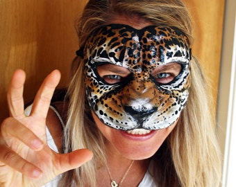 Cat Mask Masquerade Ball (Jaguar Style) Unisex Adult