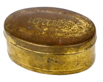 Vintage Dutch Lepeltjes Brass Box