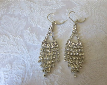 Earrings,Rhinestones,Dangle,Pierced Ears, NOW ON SALE