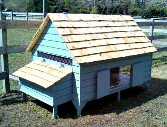 Chicken coop plans new england cape style by fresheggsdaily for Build your own duck house