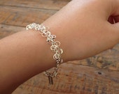 Chainmaille-bracelet in Silver