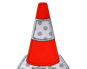 Instant Download Safety Cone Embroidery Applique Design 4x4, 5x7 and 6x10