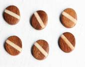 Small Oval Wood Cabochons (6x)