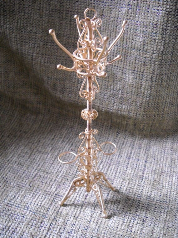 Dollhouse victorian coat rack dollhouse furniture by marjorieanns - Adding character to your hallway with a hall tree ...