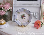 French Garden Blackberry Plate for Dollhouse