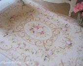 M Dollhouse Rug Floral Fringed rug for Dollhouse