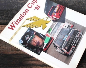 1991 NASCAR Winston Cup Book, Collectible Hardcover Illustrated First Edition