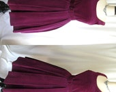 RESERVED  --- Vintage 1950s Party Dress LOOMTOGS Purple Wine Velvet - Small