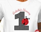 ADULT Ladybug Birthday Shirt - Personalized Ladybug Birthday Shirt