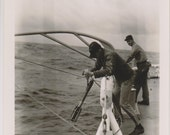 Seaman Lowering Device US Coast Guard Photo Eastwind Cutter 1950s Military