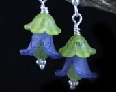 Flower Earrings - Blue Callas - Acrylic and Glinter Earrings