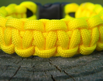 Bright YellowParacord Survival Bracelet Father Men's Women's Graduation Gift Fathers Day Mothers Day