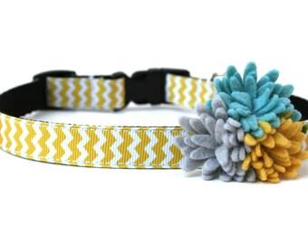"Yellow Dog Collar 5/8"" Small Dog Collar"