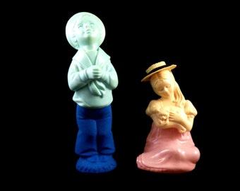 Vintage Avon Figurines - Avon Cologne Figurines - Avon Little Blue Boy & Pink Girl - Avon Home Decor Figurine - Collectible Figurines
