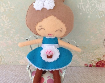 Cute French Bakery Felt Doll