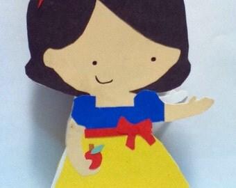Handmade Snow White Card- Cardstock
