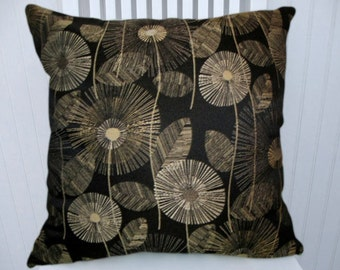 Black Gold  Decorative Pillow Cover- 18xx18 or 20x20 or 22x22 Throw Pillow --Accent Pillow