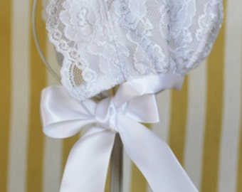 Lace Baby Bonnets