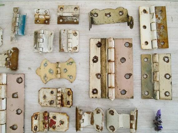 Vintage Rusty Metal Hinge Collection