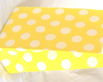 12 STanDing PolKA DoT Bags-yellow---packaging-gifts-party favors-