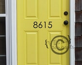 House address numbers - Vinyl Wall Art