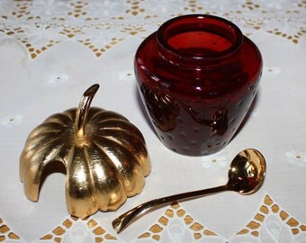 Vintage Avon Strawberry Jam Jar, Preserve Jar