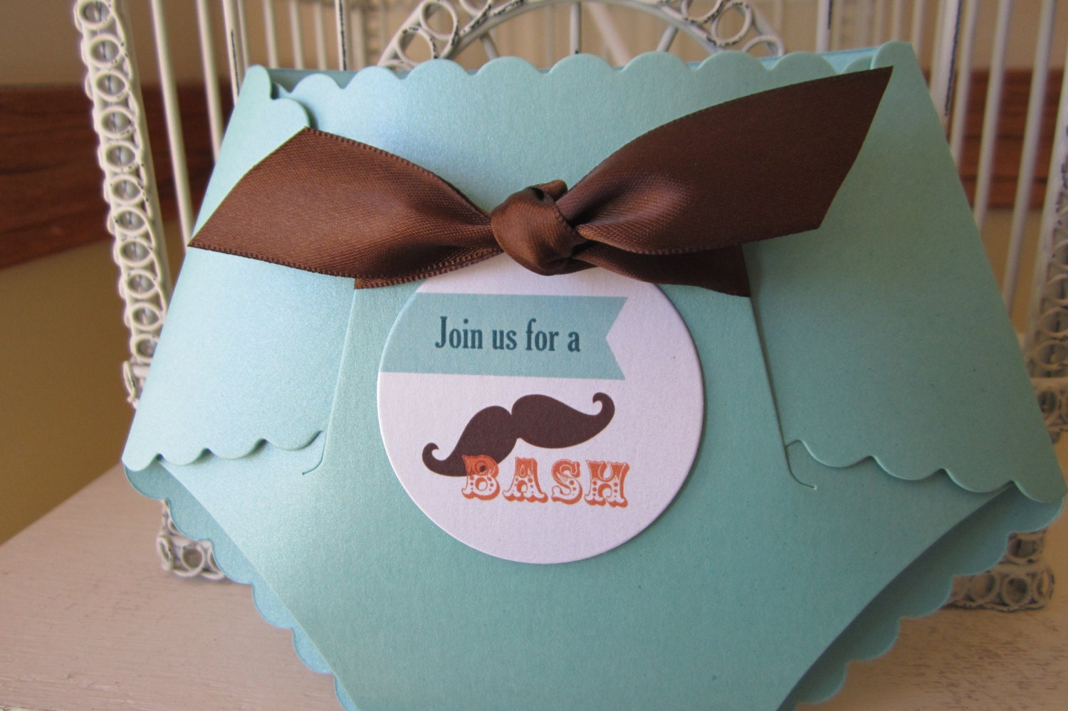 mustache theme baby shower custom die cut by beautifullyinviting