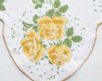 Handkerchief, Ladies Handkerchief, Womens Handkerchiefs, Hankerchief, Roses, Print, Vintage Handkerchiefs, 1960s, All Vintage Hankies