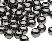 20 Gunmetal Round ball beads 8mm with large 2mm hole A2408MB